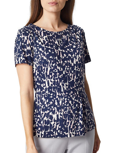 Precis Petite Rosie Geo Top-NAVY-Medium