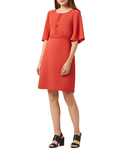 Precis Petite Bell Sleeve Dress-ORANGE-UK 14/US 12