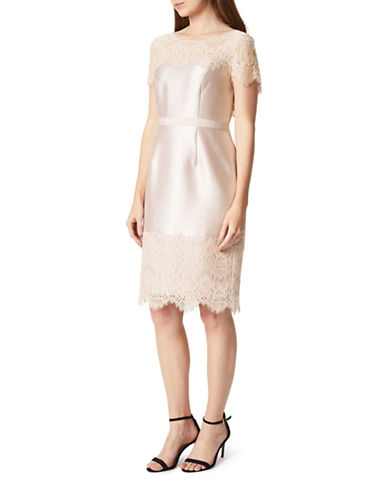 Precis Petite Shimmer Sheath Dress-NEUTRAL-UK 14/US 12