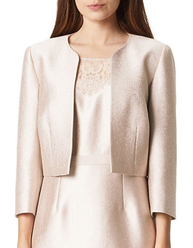 Precis Petite Shimmer Bolero Jacket-NEUTRAL-UK 14/US 12