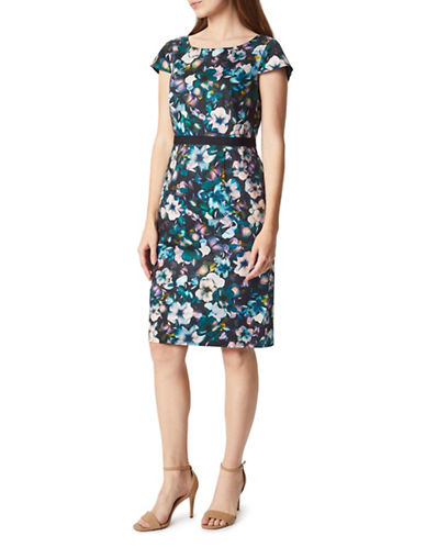 Precis Petite Orchid Print Shift Dress-MULTI-UK 16/US 14