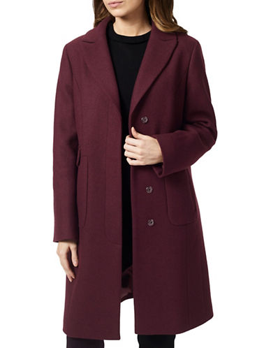Precis Petite Hatty Classic Long Coat-RED-UK 10/US 8