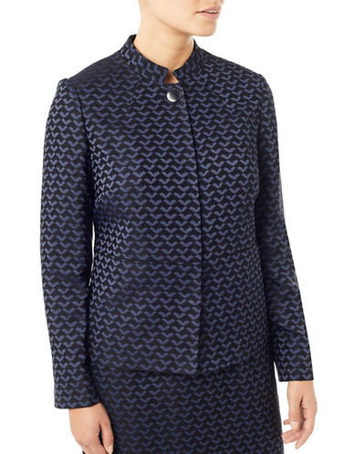 Eastex Brocade Jacket-NAVY-UK 12/US 10