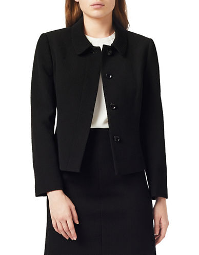 Precis Petite Textured Jacket-BLACK-UK 10/US 8