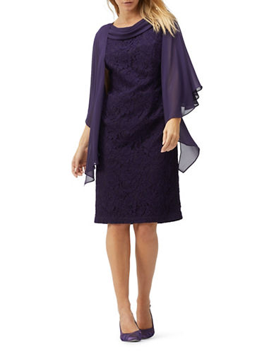 Jacques Vert Chiffon Cover-Up Wrap-PURPLE-One Size