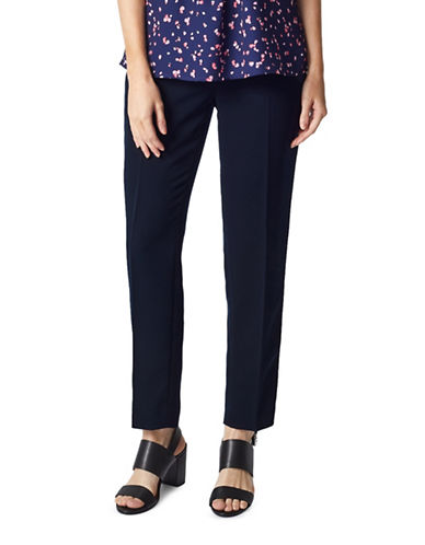 Precis Petite Anna Straight Trousers-NAVY-UK 16/US 14