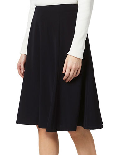 Precis Petite Flippy A-Line Skirt-BLACK-UK 14/US 12