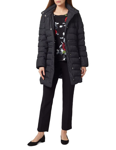 Precis Petite Hooded Quilted Coat-NAVY-UK 10/US 8