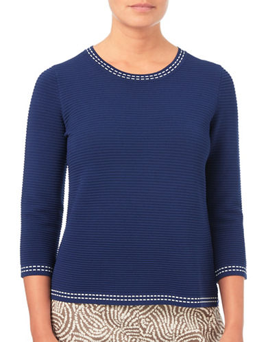 Eastex Textured Sweater-NAVY-UK 20/US 18
