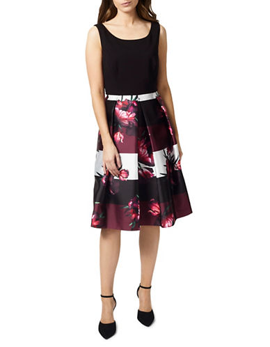 Precis Petite Tulip Prom Dress-BLACK MULTI-UK 18/US 16