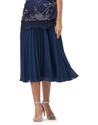Jacques Vert Lottie Accordion Skirt-NAVY-X-Large