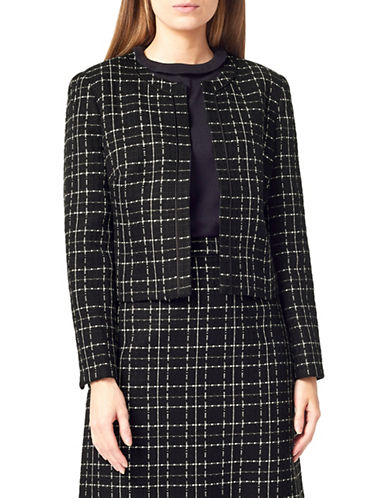 Precis Petite Petite Check Woven Jacket-MULTI BLACK-UK 6/US 4