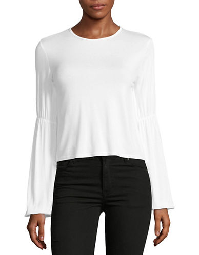 Missguided Gathered-Sleeved Top-WHITE-8 89006350_WHITE_8