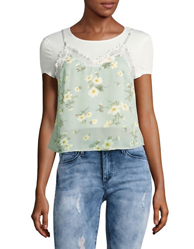 Missguided Layered Floral Cami Top-MULTI-UK 12/US 8