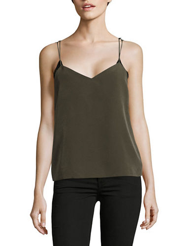 Missguided Lace Detail Racerback Strap Camisole-GREEN-UK 12/US 8