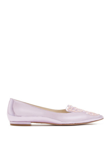 Sophia Webster Bibi Leather Butterfly Flats-PINK-EUR 40/US 10