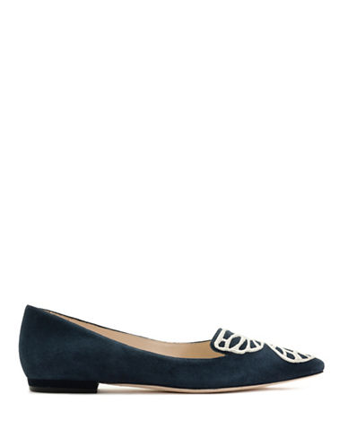 Sophia Webster Bibi Butterfly Kid Suede Flats-BLUE-EUR 39.5/US 9.5