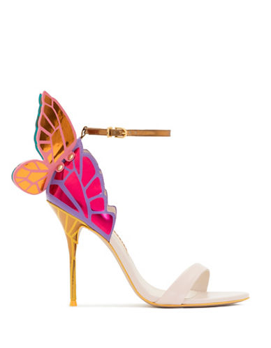 Sophia Webster Chiara 3D Butterfly Wing Leather Sandals-BEIGE MULTI-EUR 37.5/US 7.5
