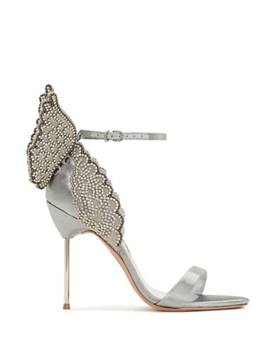 Sophia Webster Evangeline Crystal Wing Sandals-SILVER-EUR 38.5/US 8.5