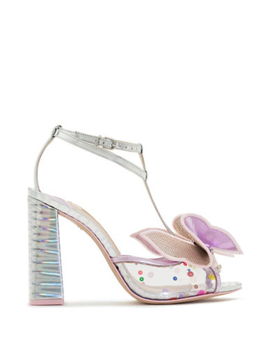 Sophia Webster Lana T-Bar Sandals-SILVER-EUR 37.5/US 7.5