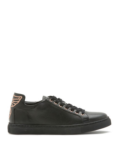 Sophia Webster Bibi Leather Butterfly Sneakers-BLACK-EUR 36/US 6