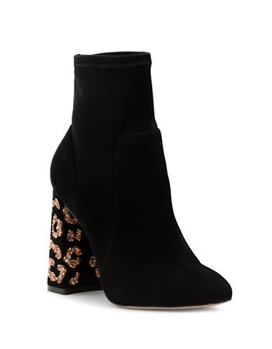 Sophia Webster Felicity Leopard Leather Ankle Boots-BLACK-EUR 37/US 7