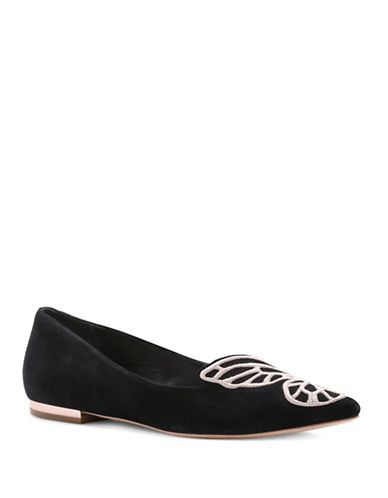Sophia Webster Suede Point Toe Flats-BLACK MULTI-EUR 38.5/US 8.5