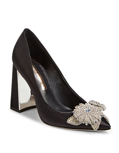 Sophia Webster Embellished Point Toe Pumps-BLACK-EUR 38/US 8