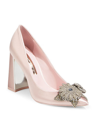 Sophia Webster Embellished Point Toe Pumps-PINK-EUR 37.5/US 7.5