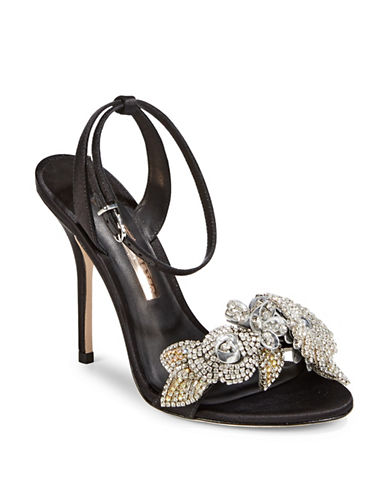 Sophia Webster Lilico Crystal Strap Sandals-BLACK-EUR 36/US 6