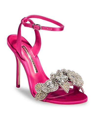 Sophia Webster Embellished Stiletto Sandals-PINK-EUR 40/US 10