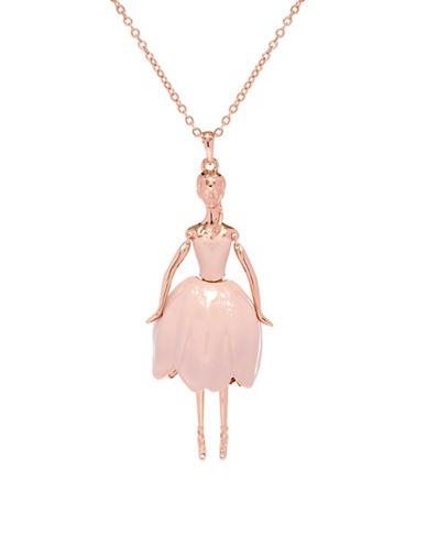 Ted Baker London Tuula Swarovski Crystal Ballerina Pendant Necklace-PINK-One Size