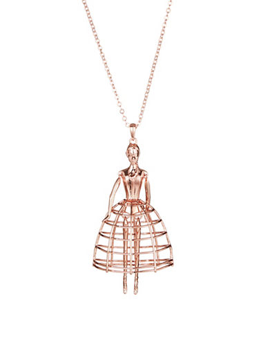 Ted Baker London Petticoat Ballerina Pendant Necklace-ROSE GOLD-One Size
