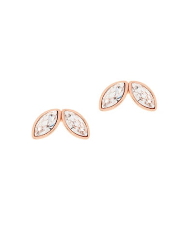 Ted Baker London Genii Swarovski Crystal Geometric Bee Stud Earrings-ROSE GOLD-One Size