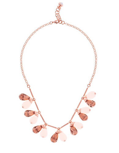 Ted Baker London Polina Plisse Drop Preciosa Crystal Necklace-PINK-One Size