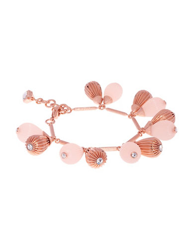 Ted Baker London Perses Plisse Drop Preciosa Crystal Bracelet-PINK-One Size