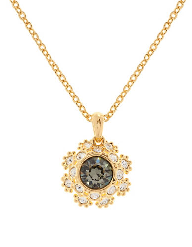 Ted Baker London Sirou Swarovski Crystal Daisy Lace Pendant Necklace-JET-One Size