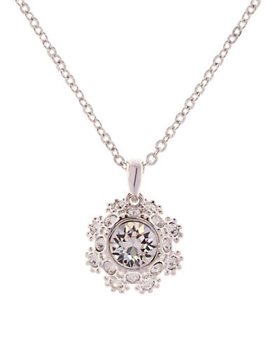 Ted Baker London Sirou Swarovski Crystal Daisy Lace Pendant Necklace-CRYSTAL-One Size