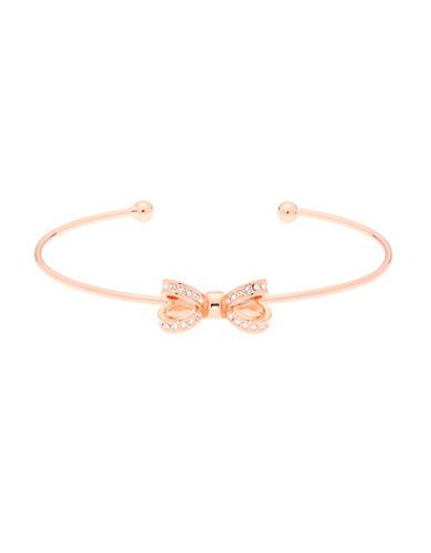 Ted Baker London Olexii Swarovski Crystal Opulent Pave Bow Bracelet-ROSE GOLD-One Size