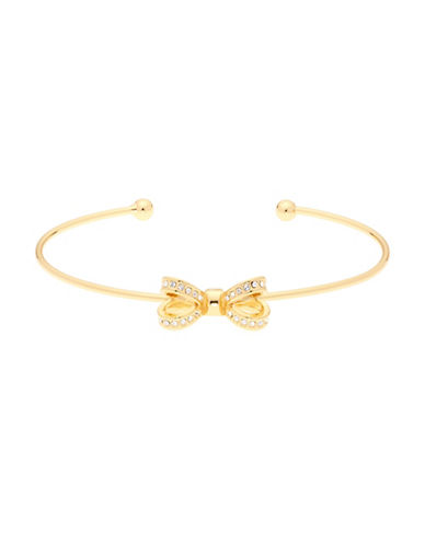 Ted Baker London Olexii Swarovski Crystal Opulent Pave Bow Bracelet-GOLD-One Size