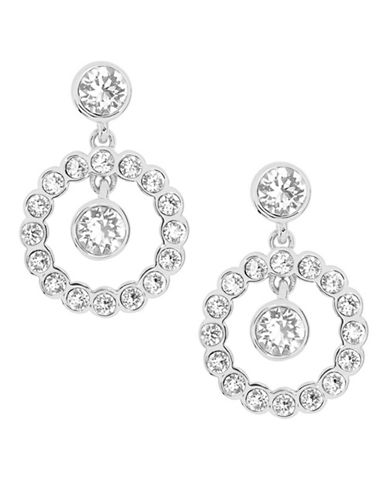 Ted Baker London Corali Concentric Swarovski Crystal Drop Earrings-SILVER-One Size