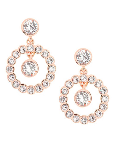 Ted Baker London Corali Concentric Swarovski Crystal Drop Earrings-ROSE GOLD-One Size