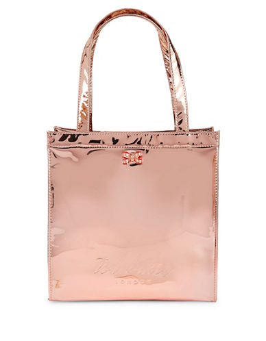 Ted Baker London Core Small Metallic Icon Tote-ROSE GOLD-One Size