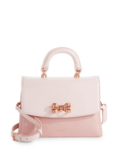 Ted Baker London Looped Bow Lady Satchel-LIGHT PINK-One Size