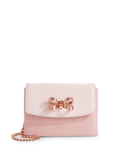 Ted Baker London Looped Bow Mini Crossbody Bag-LIGHT PINK-One Size