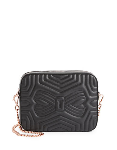 Ted Baker London Quilted Leather Camera Bag-BLACK-One Size