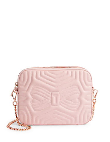 Ted Baker London Quilted Leather Camera Bag-LIGHT PINK-One Size