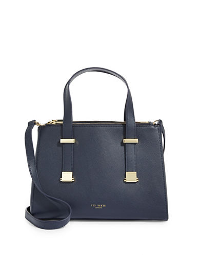 Ted Baker London Adjustable Leather Tote Bag-DARK BLUE-One Size
