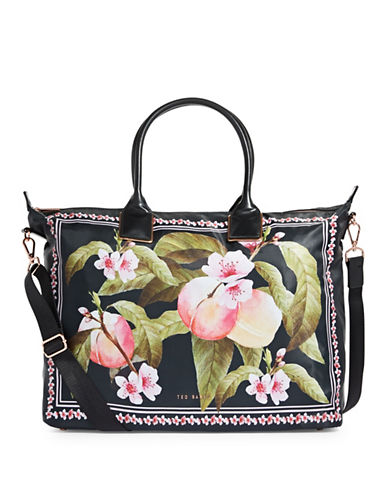 Ted Baker London Classic Floral Tote-BLACK-One Size