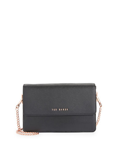 Ted Baker London Crosshatch Crossbody Bag-BLACK-One Size